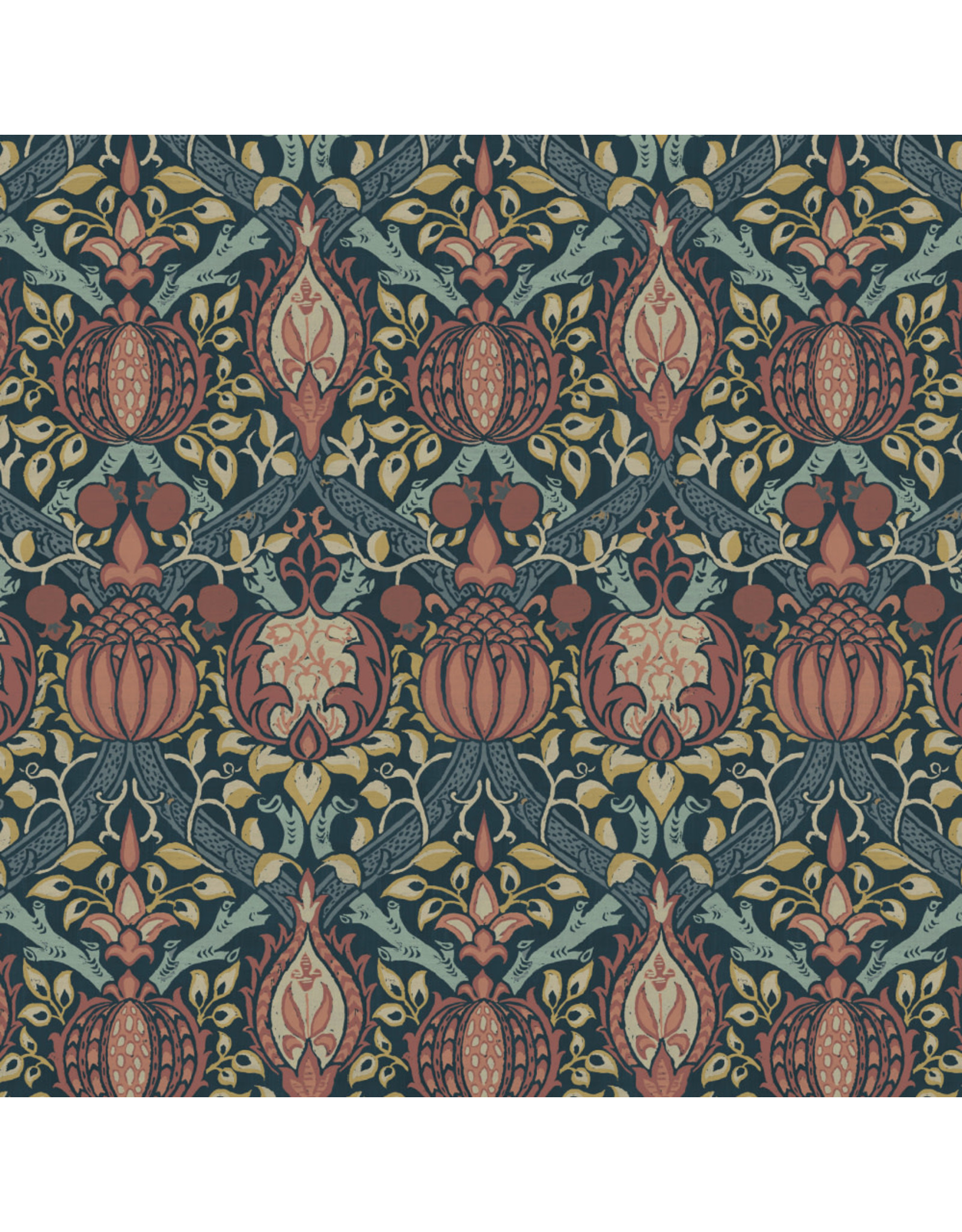 William Morris & Co. Morris & Co., Granada, Granada in Indigo, Fabric Half-Yards
