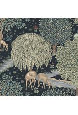 William Morris & Co. Morris & Co., Granada, The Brook in Indigo, Fabric Half-Yards
