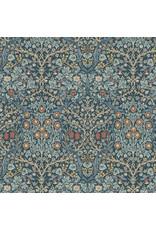 William Morris & Co. Morris & Co., Granada, Blackthorne in Indigo, Fabric Half-Yards