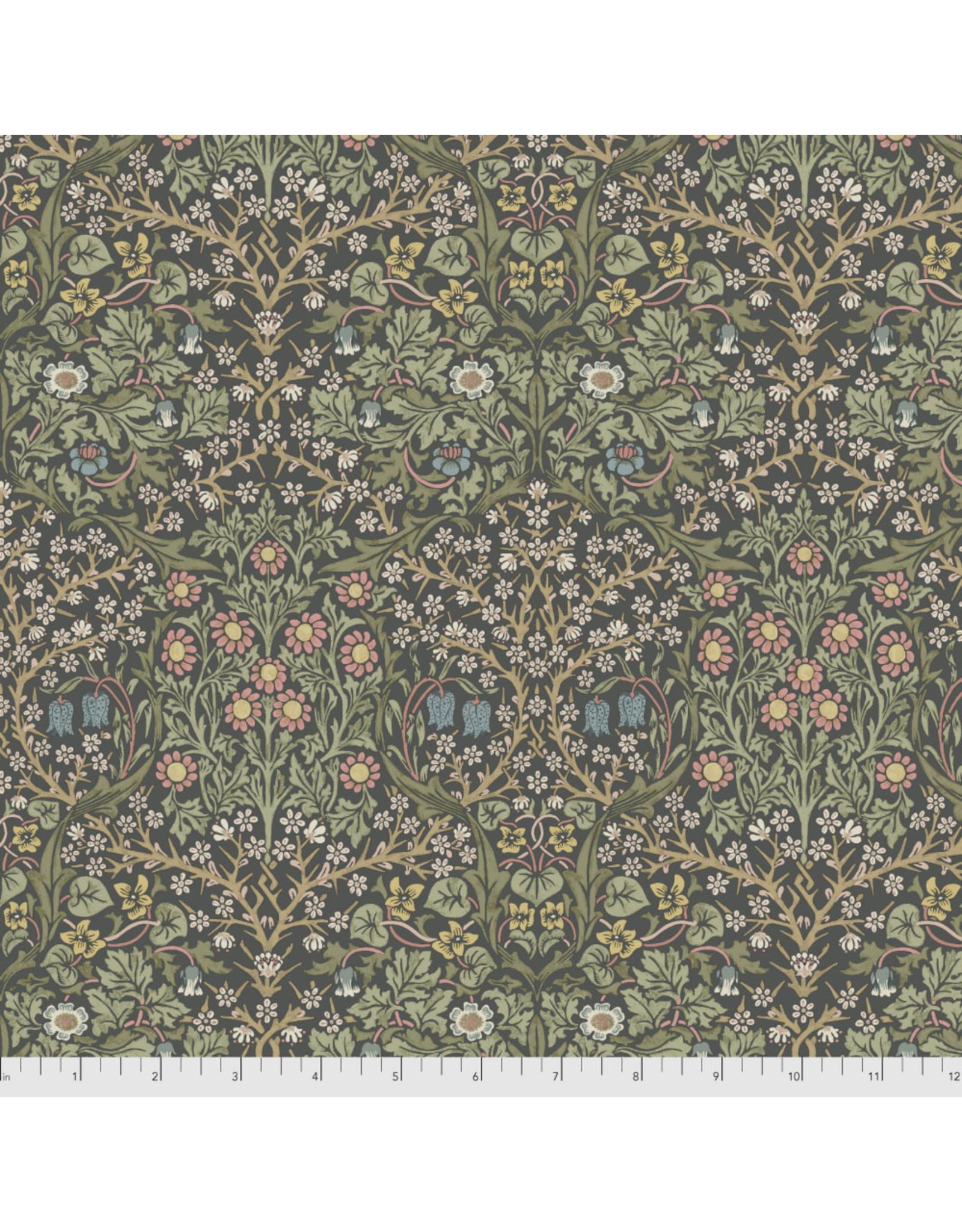 William Morris & Co. Morris & Co., Granada, Blackthorne in Charcoal, Fabric Half-Yards