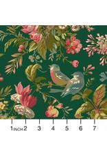Andover Fabrics Secret Stash, Foilage in Verdian, Fabric Half-Yards