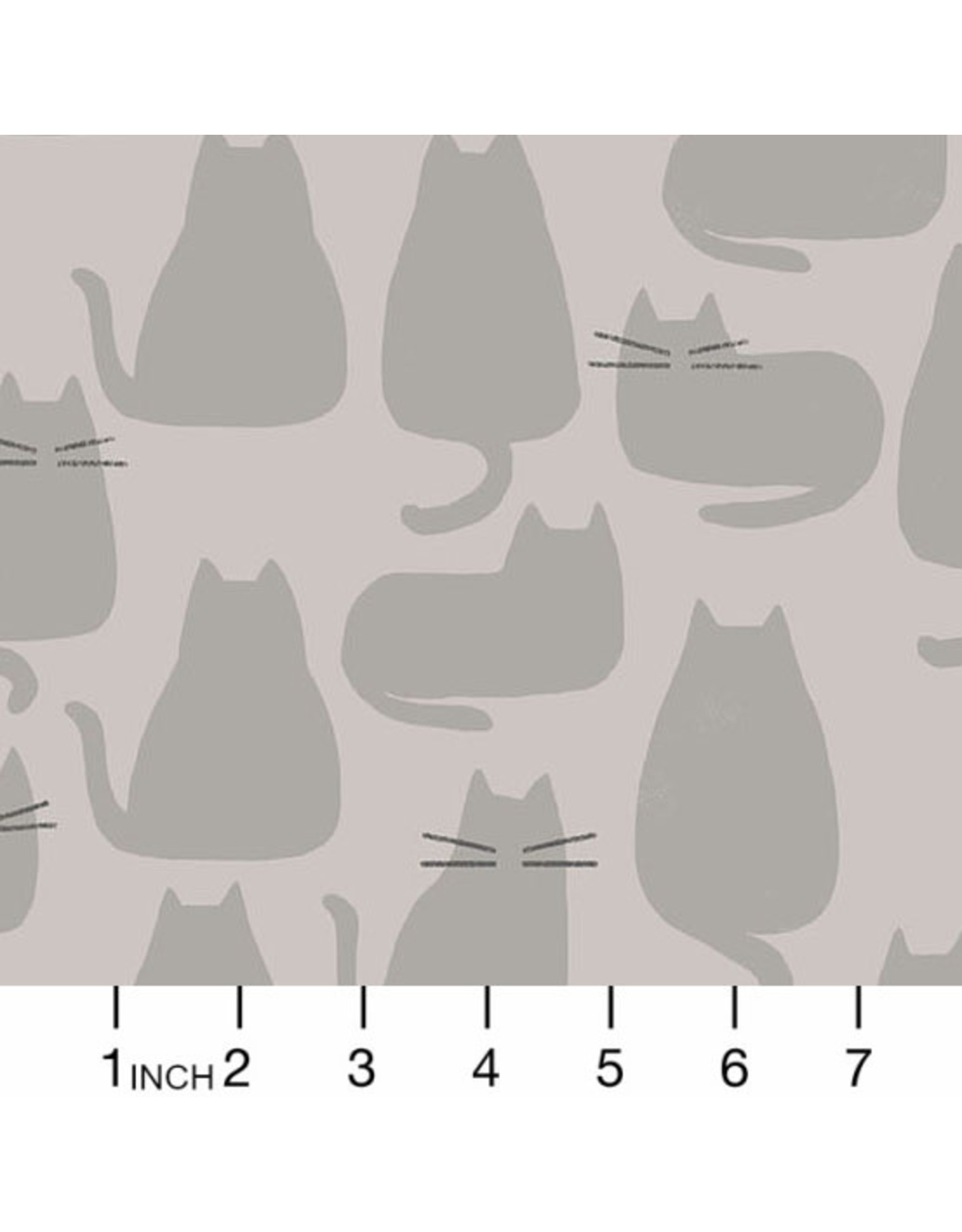 Sarah Golden Whiskers and Dash, Whiskers in Concrete, Fabric Half-Yards
