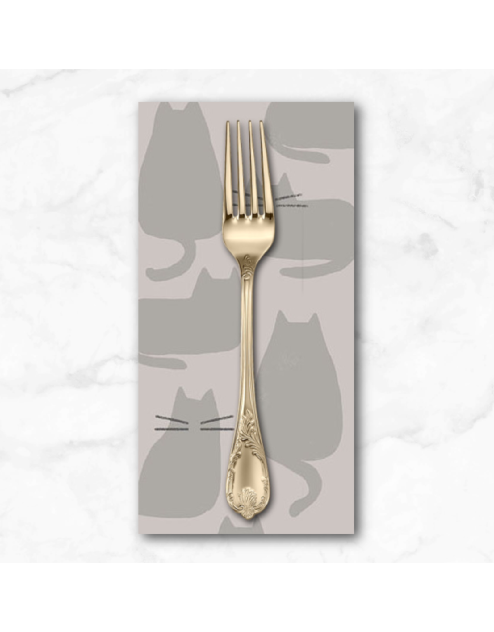 PD's Sarah Golden Collection Whiskers and Dash, Whiskers in Concrete, Dinner Napkin