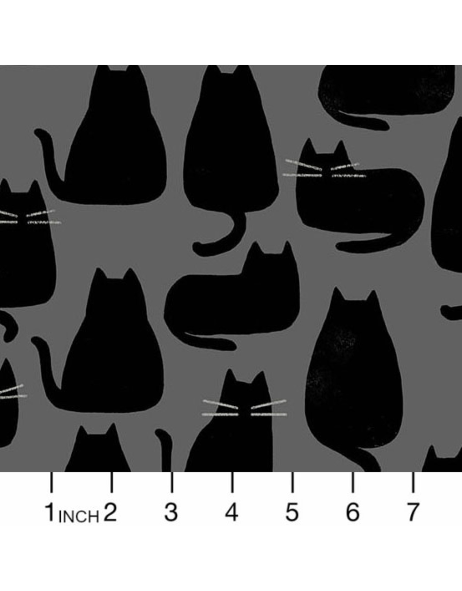 PD's Sarah Golden Collection Whiskers and Dash, Whiskers in Coal, Dinner Napkin