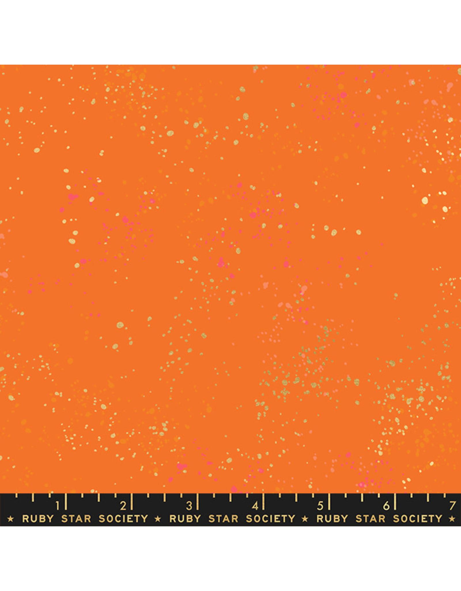 Rashida Coleman-Hale Ruby Star Society, Speckled New in Burnt Orange, Fabric Half-Yards