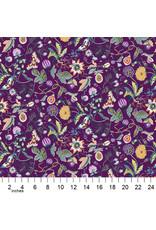 Figo Forage, Garden in Purple, Fabric Half-Yards