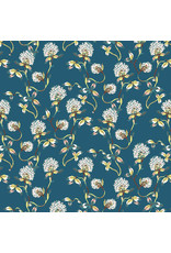 Figo Forage, Clover in Teal, Fabric Half-Yards