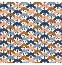 Figo Kingyo, Bonsai Trees in Beige, Fabric Half-Yards