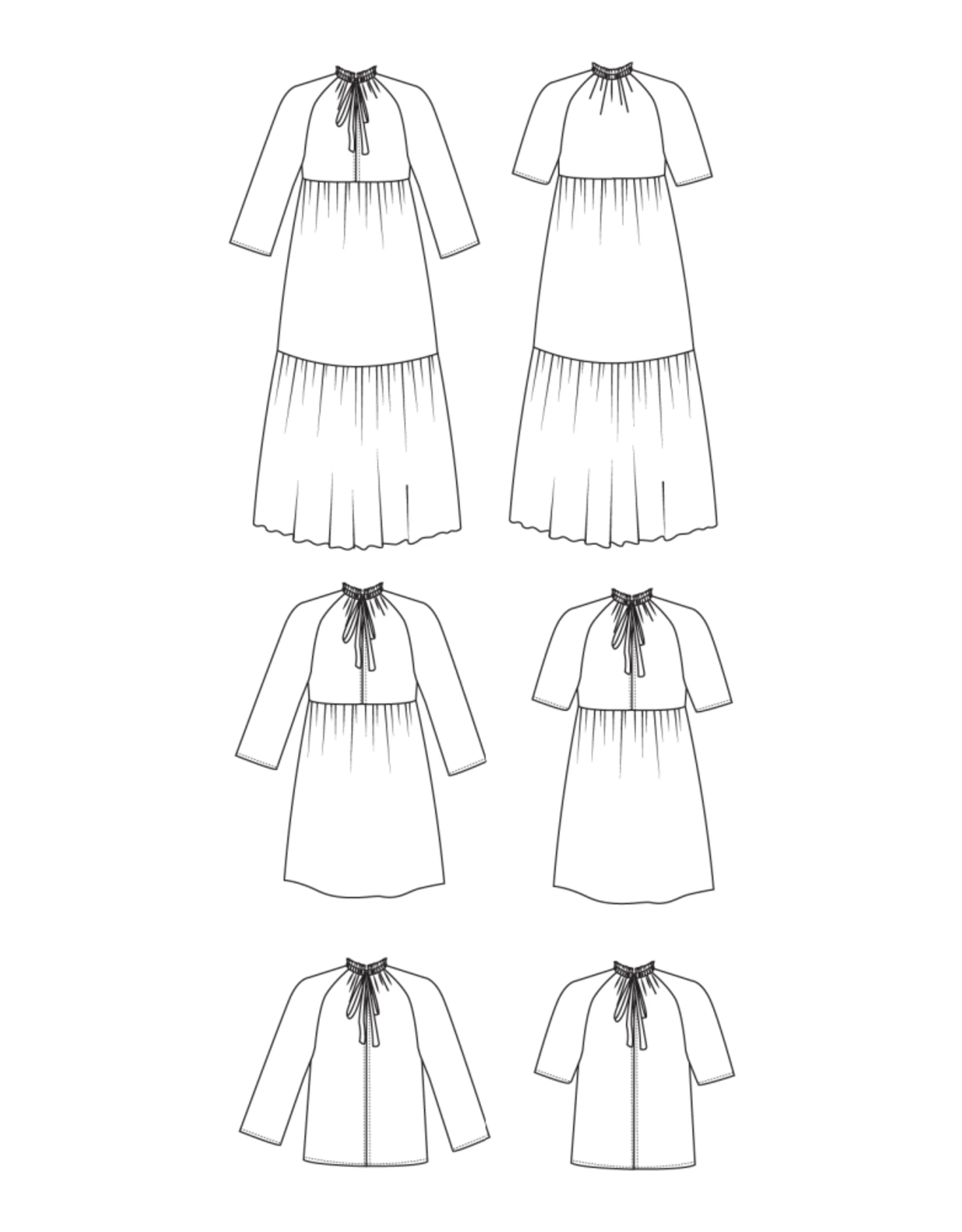 Friday Pattern Company Friday Pattern Co's Wilder Gown Pattern