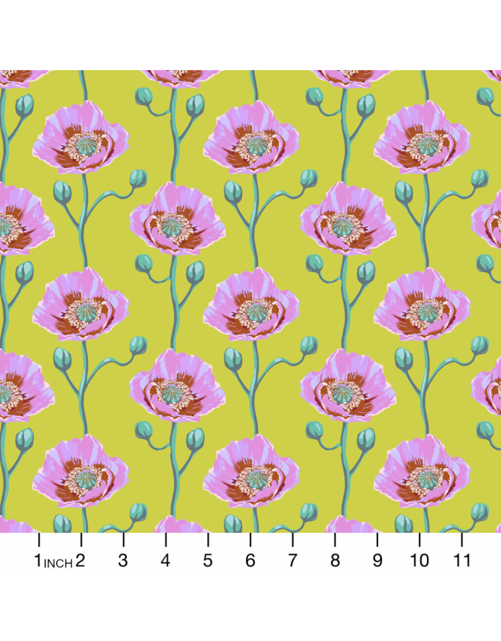 Anna Maria Horner Bright Eyes, Cheering Section in Sunny, Fabric Half-Yards