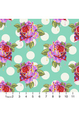 Tula Pink Curiouser and Curiouser, Painted Roses in Wonder, Fabric Half-Yards