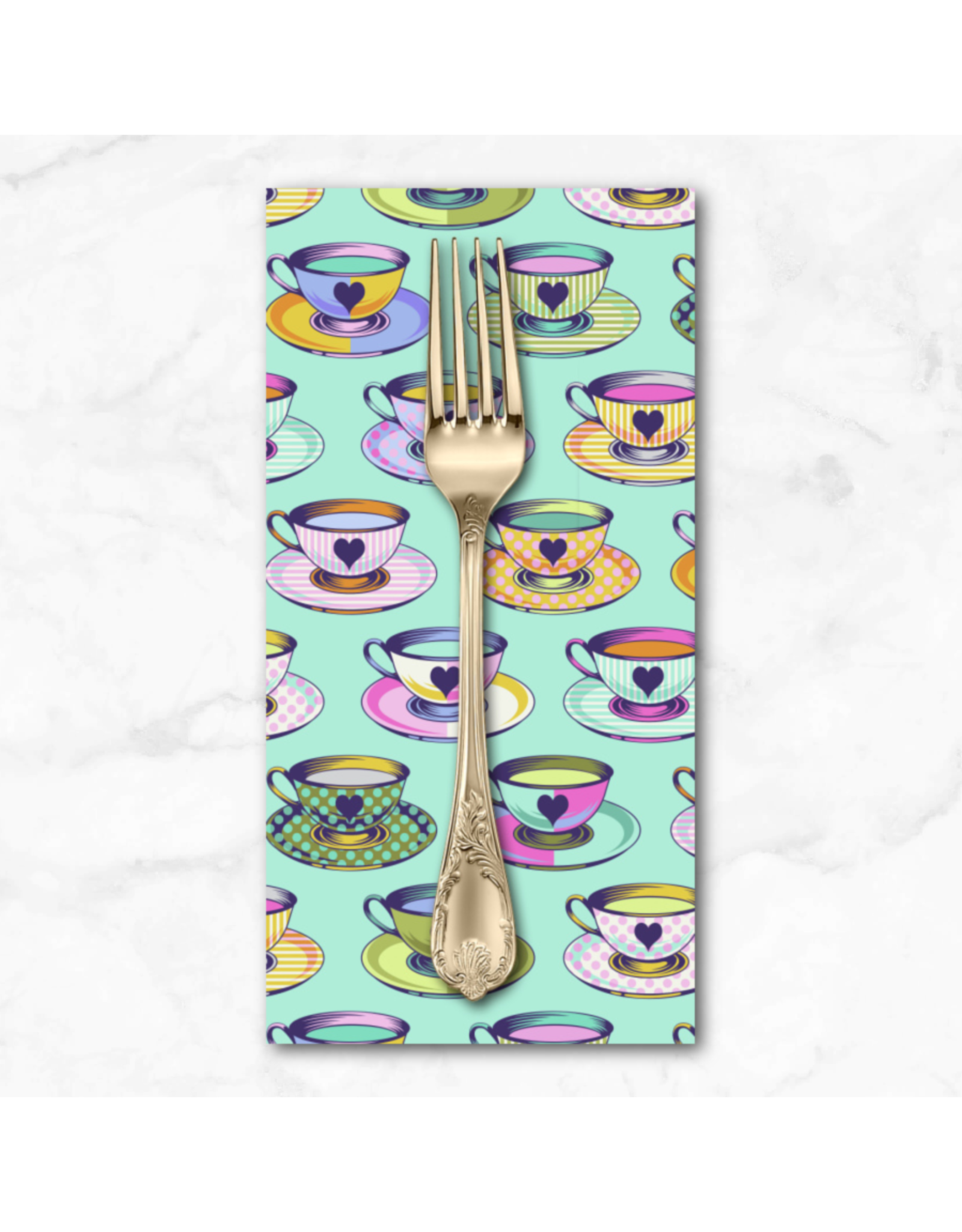 PD's Tula Pink Collection Curiouser and Curiouser, Tea Time in Daydream, Dinner Napkin