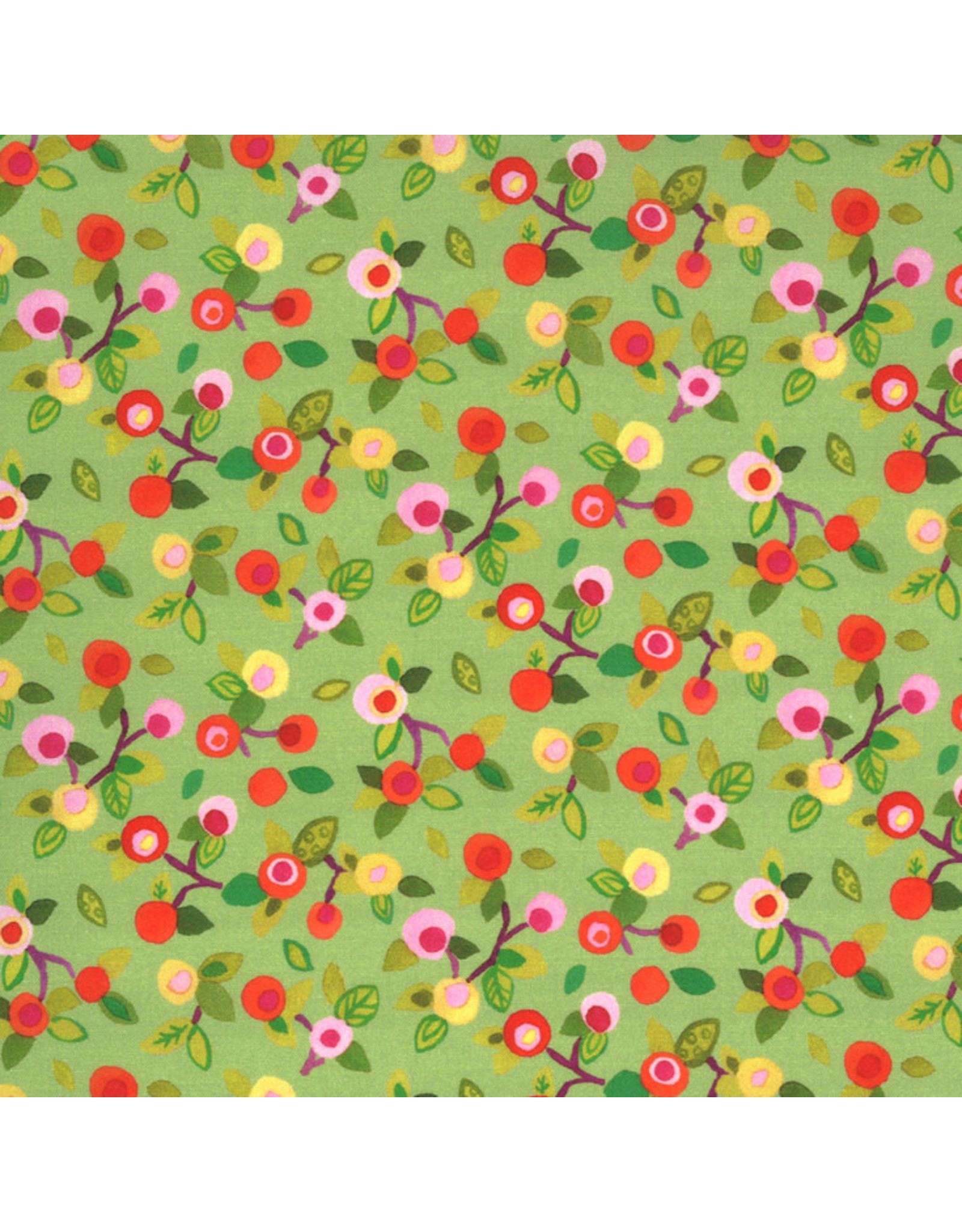 Moda Fanciful Forest, Flower Blossoms in Leaf, Fabric Half-Yards