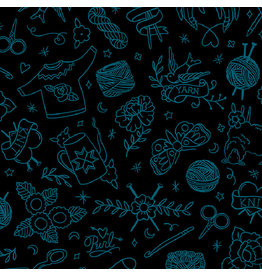 Sarah Watts Ruby Star Society, Purl, Yarn Flash in Black, Fabric Half-Yards