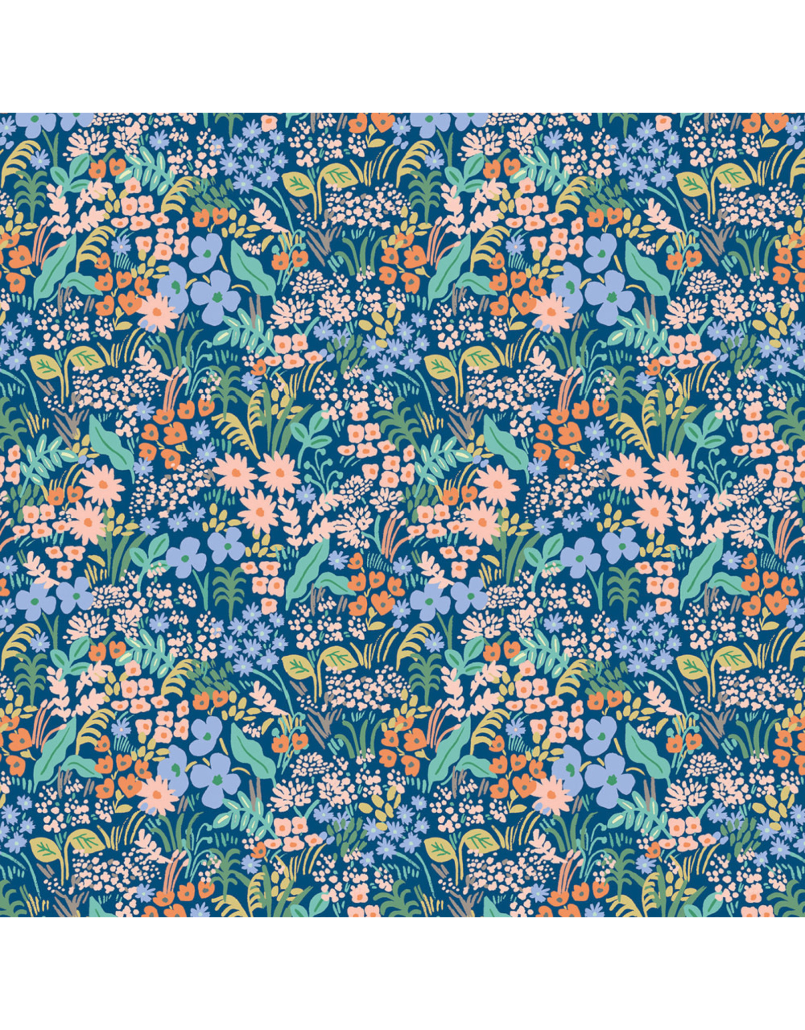 Rifle Paper Co. Meadow, Meadow in Blue, Fabric Half-Yards
