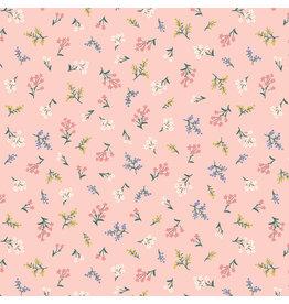 Rifle Paper Co. Strawberry Fields, Petites Fleurs in Blush, Fabric Half-Yards
