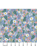 Rifle Paper Co. Wildwood, Wildflowers in Blue, Fabric Half-Yards