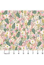 Rifle Paper Co. Wildwood, Wildflowers in Pink, Fabric Half-Yards
