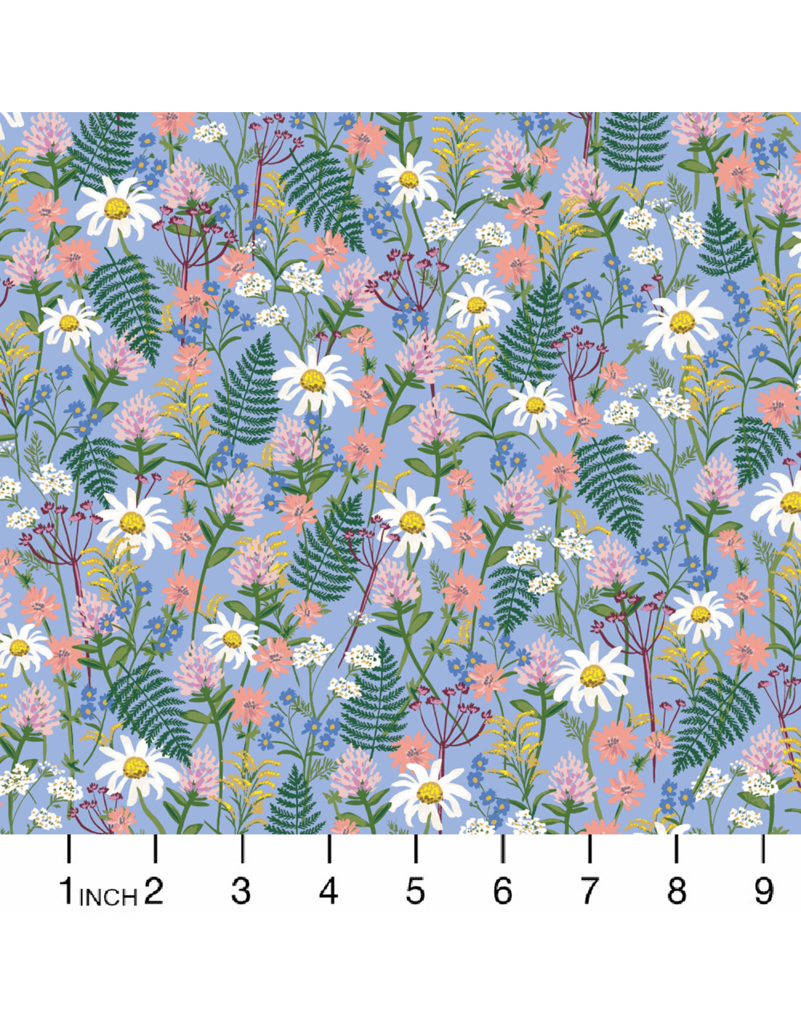 PD's Rifle Paper Co Collection Wildwood, Wildflowers in Blue, Dinner Napkin