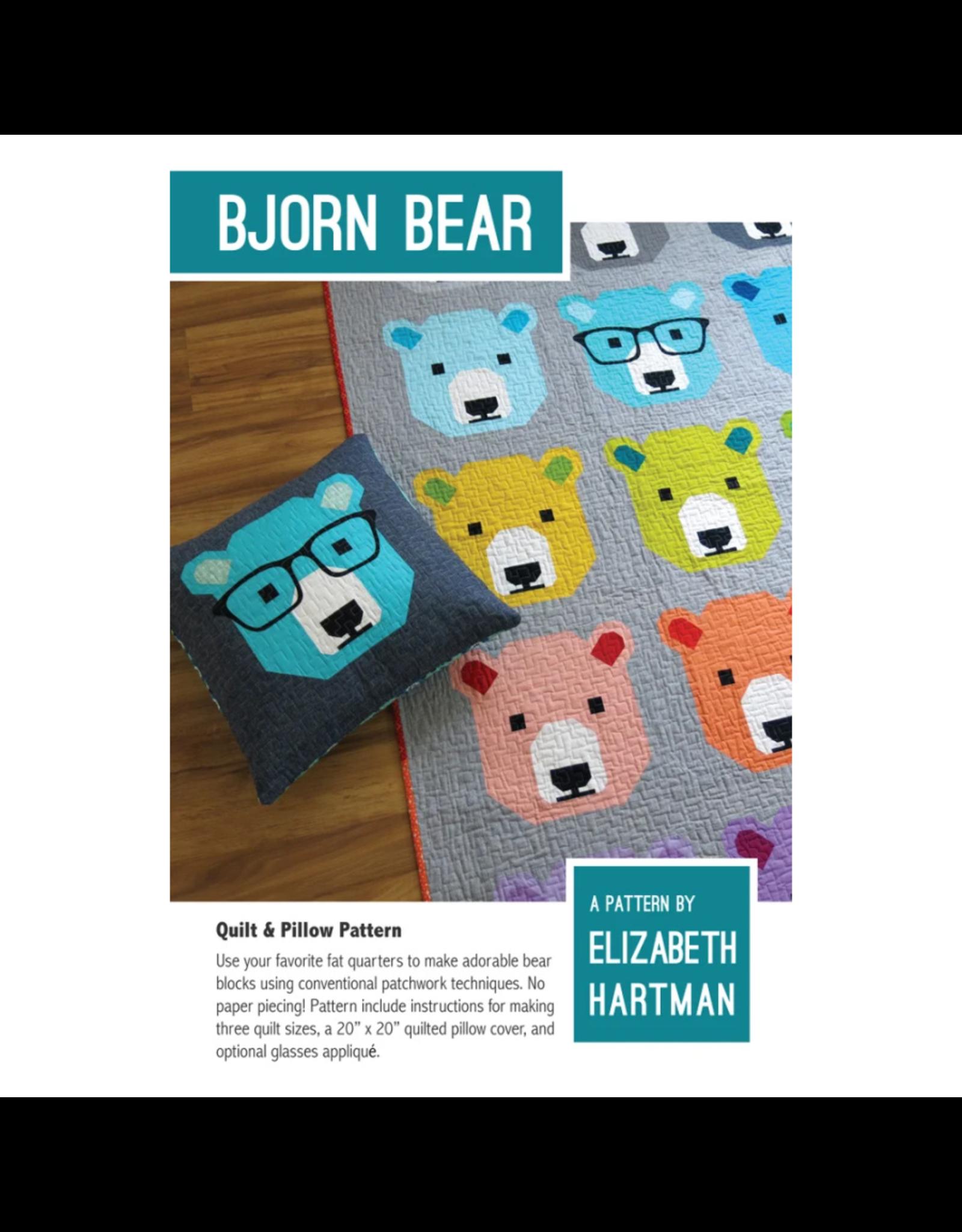 Elizabeth Hartman Bjorn Bear Quilt and Pillow Pattern