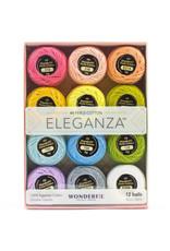WonderFil Eleganza Pastels, Perle (Pearl) Cotton, Set of 12 Size 8 from WonderFil