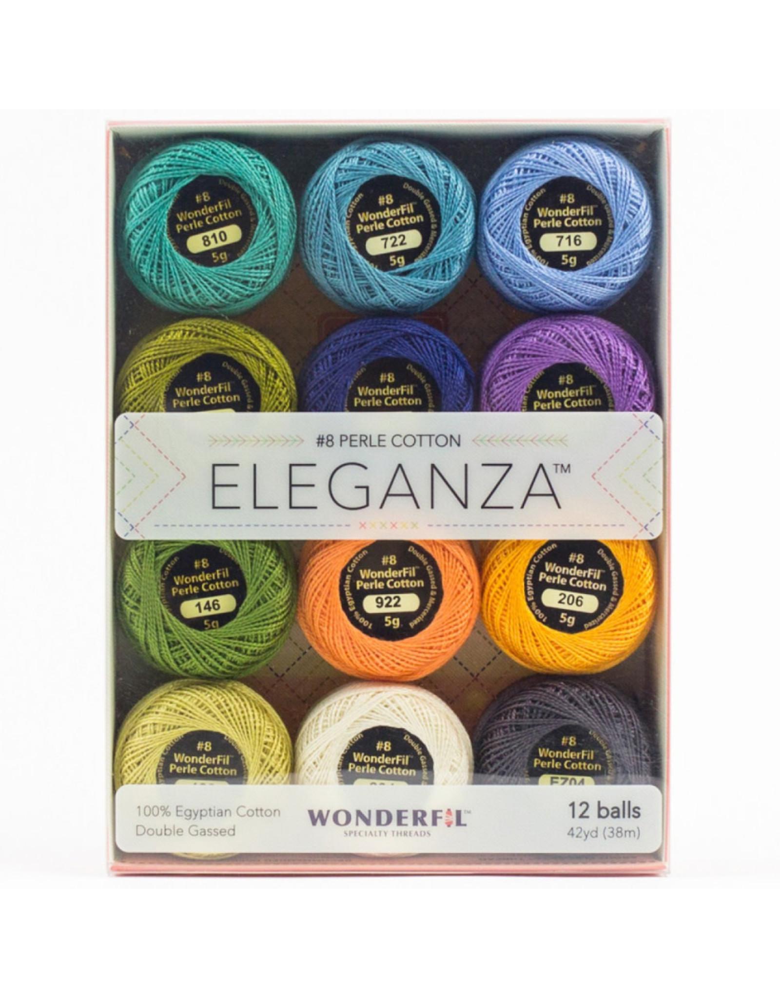 WonderFil Eleganza Coral Reef, Perle (Pearl) Cotton, Set of 12 Size 8 from WonderFil
