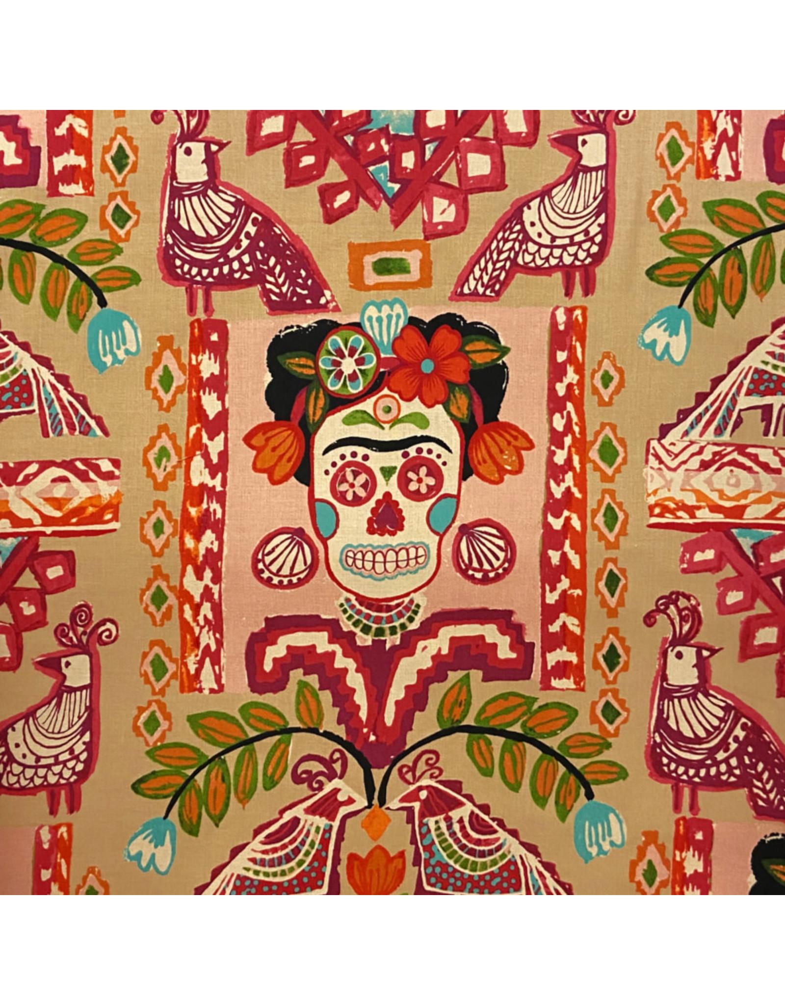 Alexander Henry Fabrics Folklorico, Ikat de Polanco in Tea Pink, Fabric Half-Yards