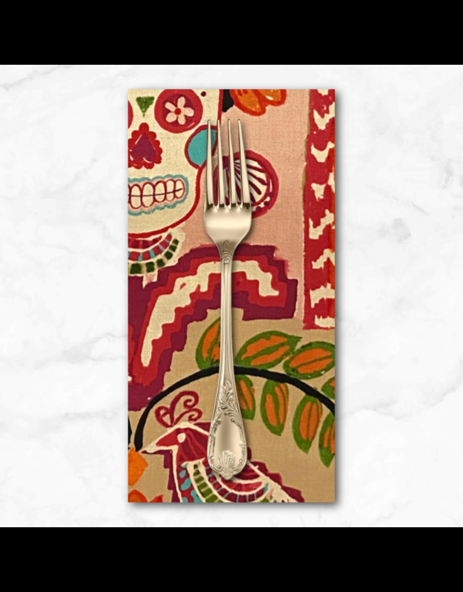 PD's Alexander Henry Collection Folklorico, Ikat de Polanco in Tea Pink, Dinner Napkin