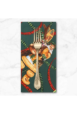 Christmas Collection Christmas Time, Santa of Moose Lodge in Forest Green, Dinner Napkin