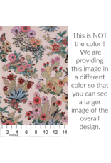 Alexander Henry Fabrics Folklorico, Hacienda Cactus in Chambray, Fabric Half-Yards