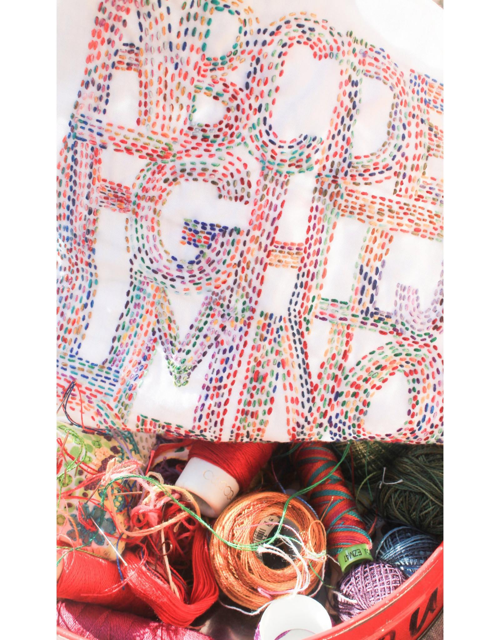 Dropcloth Samplers ABC Sprinkle Sampler,  Embroidery Sampler from Dropcloth Samplers