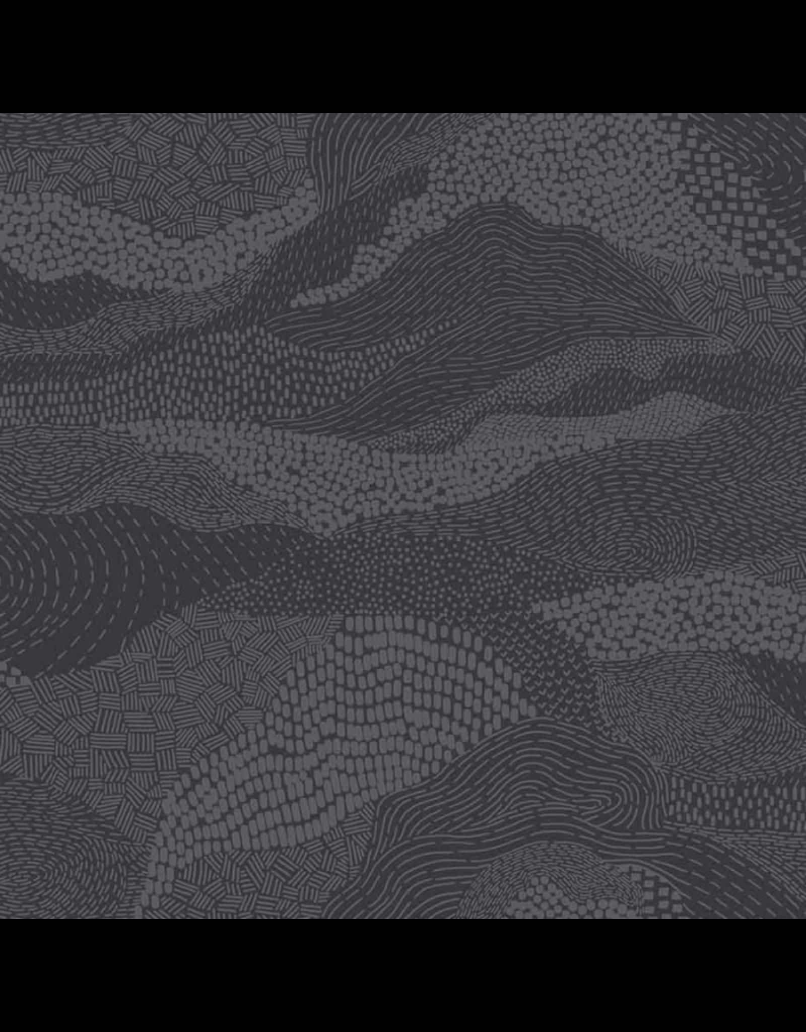 Figo Elements, Earth in Dark Gray, Fabric Half-Yards