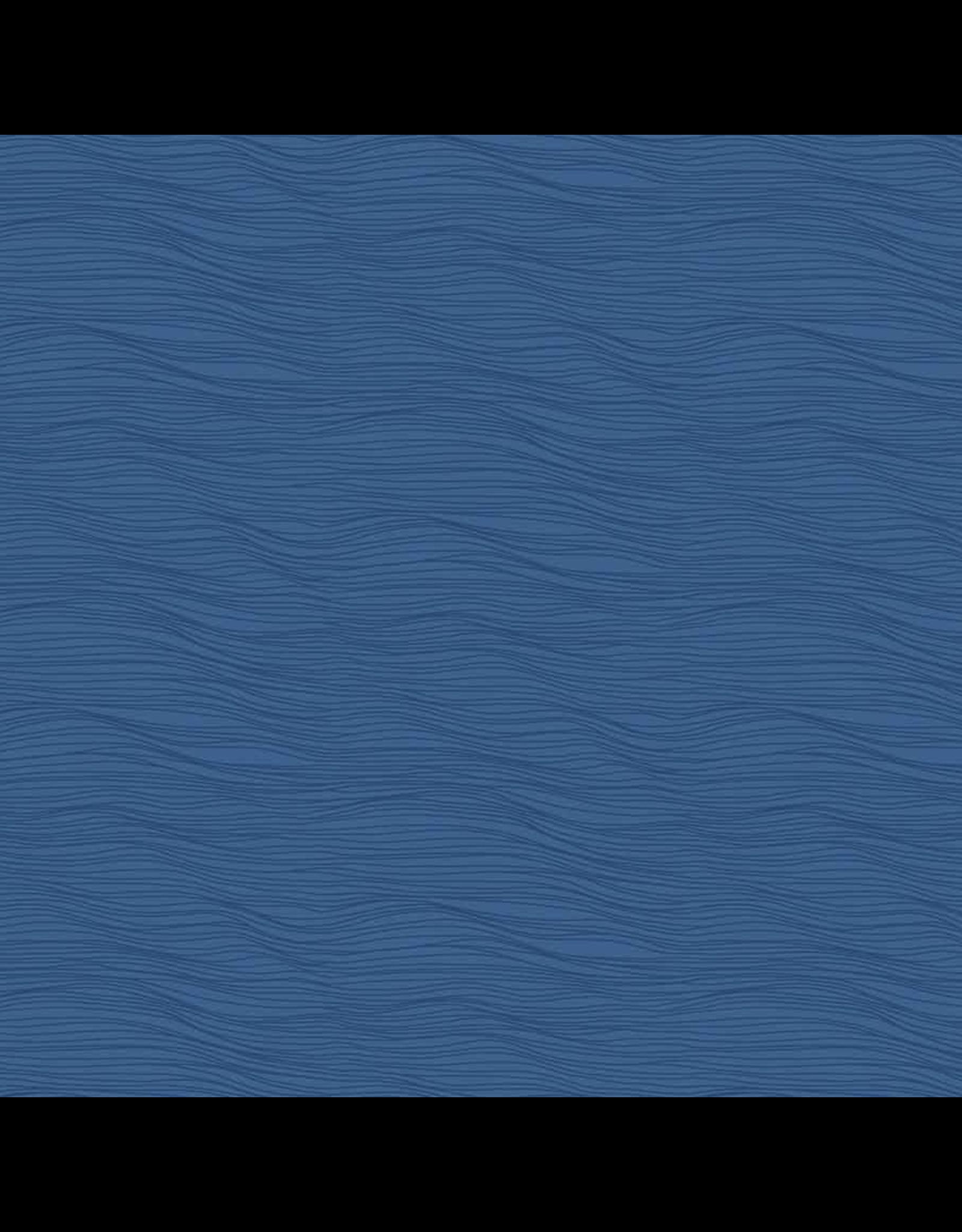 Figo Elements, Water in Blue, Fabric Half-Yards