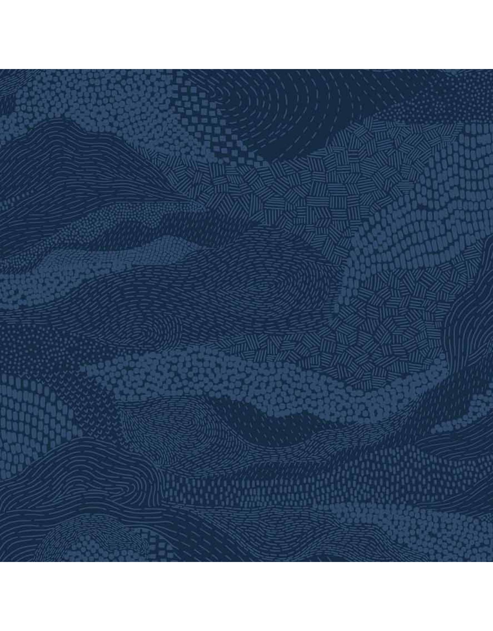 Figo Elements, Earth in Navy, Fabric Half-Yards