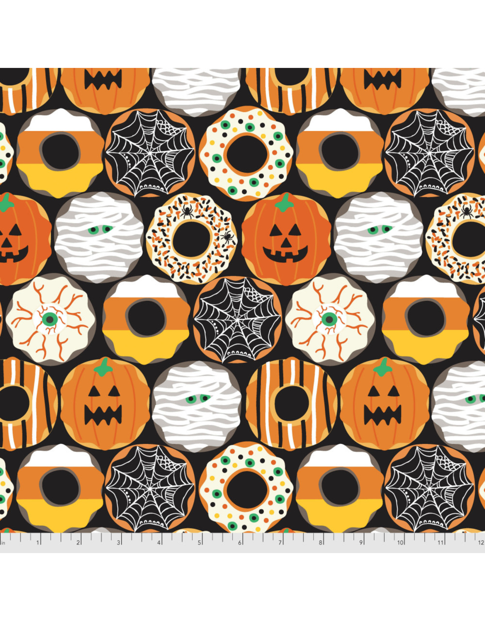 PD's Maude Asbury Collection Boolicious, Creepy Crullers in Black, Dinner Napkin