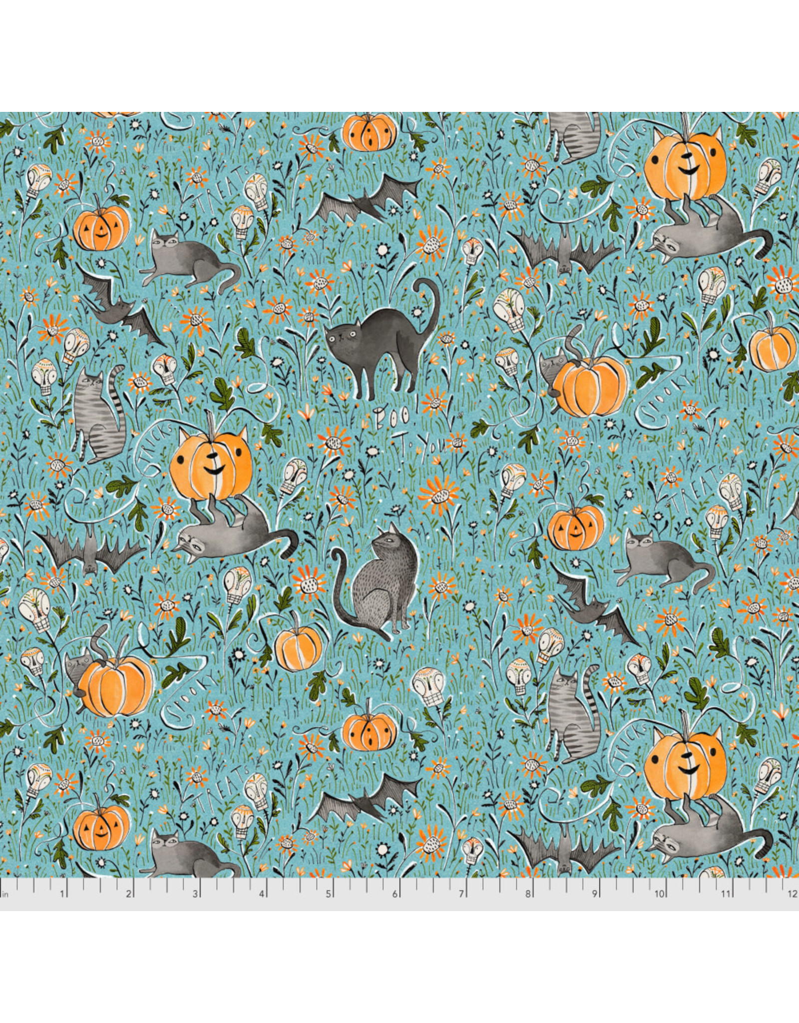 PD's Maude Asbury Collection Spirit of Halloween, In the Patch in Blue, Dinner Napkin