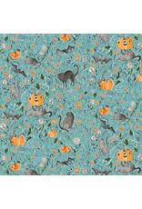 Cori Dantini Spirit of Halloween, In the Patch in Blue, Fabric Half-Yards