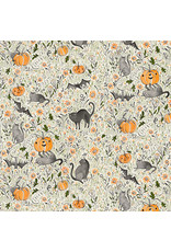 Cori Dantini Spirit of Halloween, In the Patch in Grey, Fabric Half-Yards