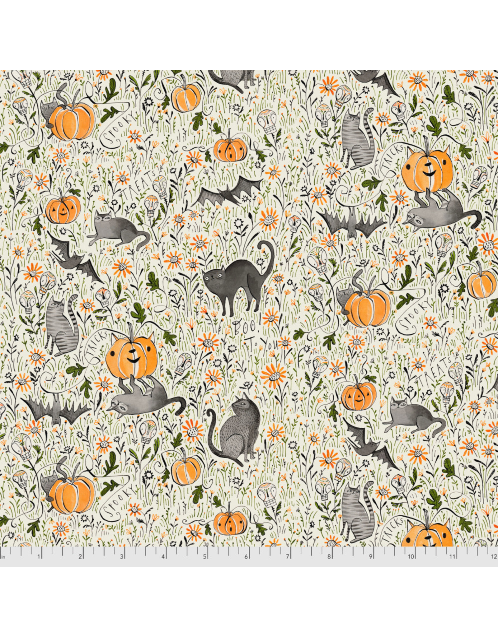 PD's Maude Asbury Collection Spirit of Halloween, In the Patch in Grey, Dinner Napkin