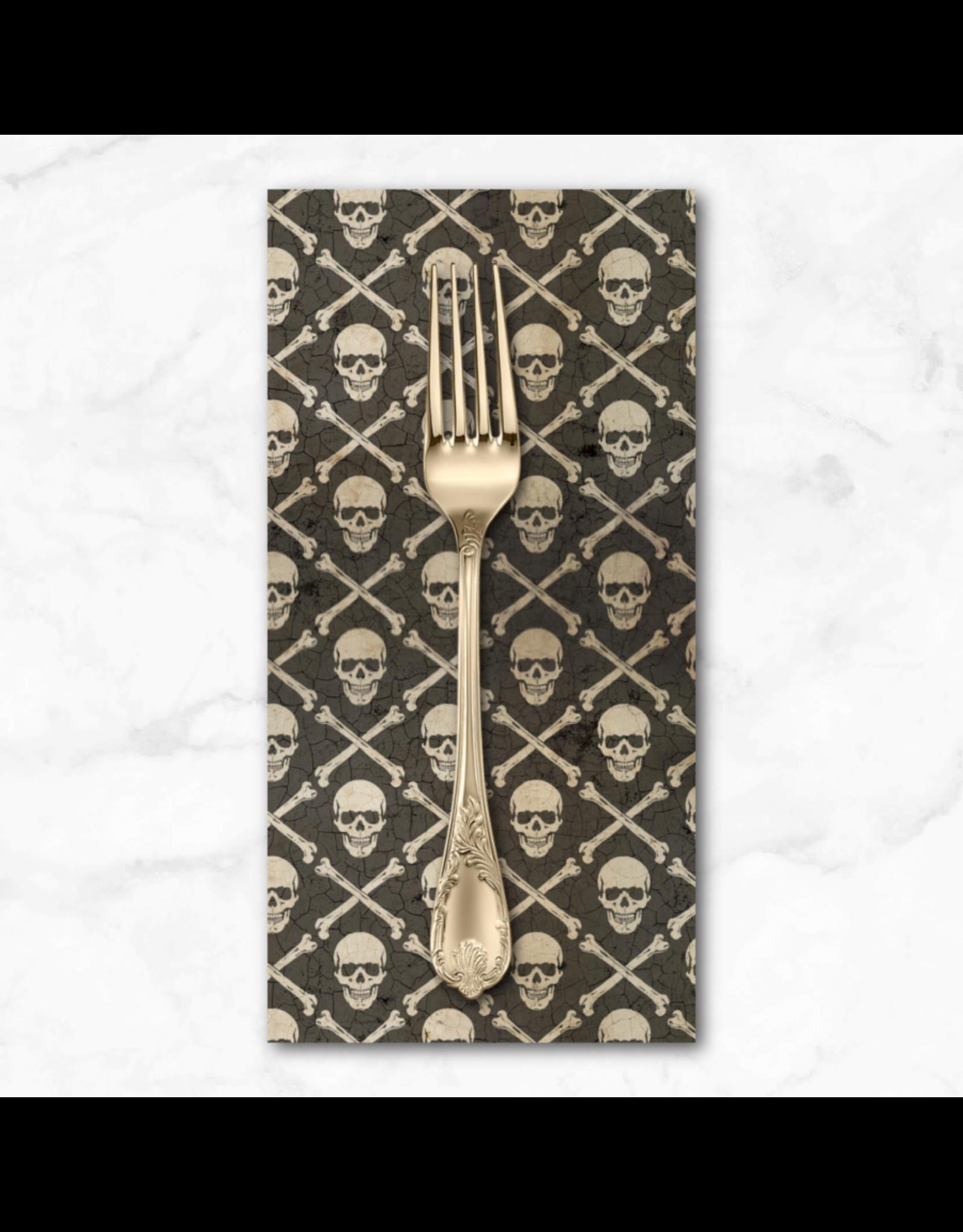 PD's Tim Holtz Collection Regions Beyond, Crossbones in Black, Dinner Napkin