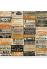 PD's Tim Holtz Collection Regions Beyond, Apothecary in Multi, Dinner Napkin
