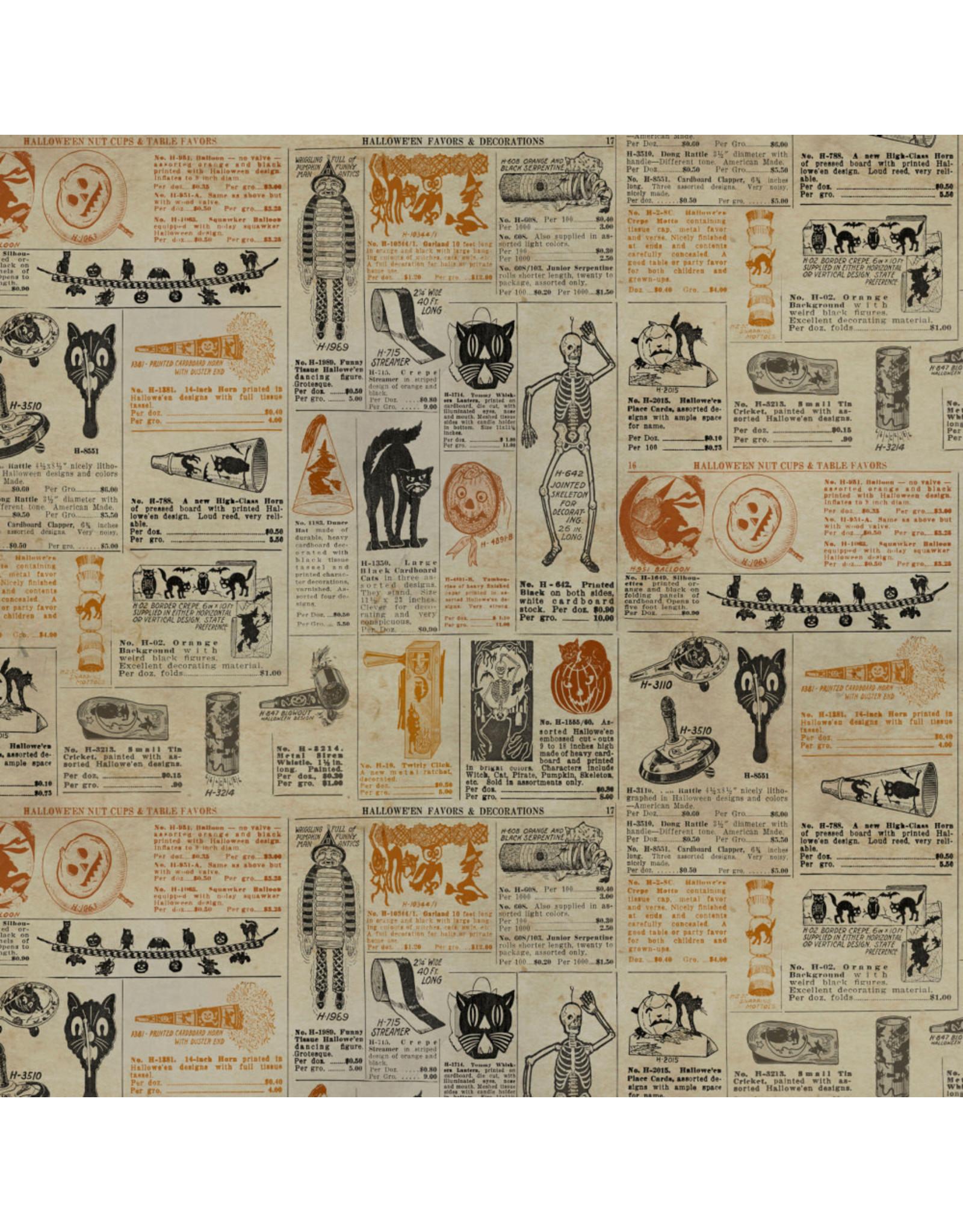 Tim Holtz Regions Beyond, Masquerade in Multi, Fabric Half-Yards