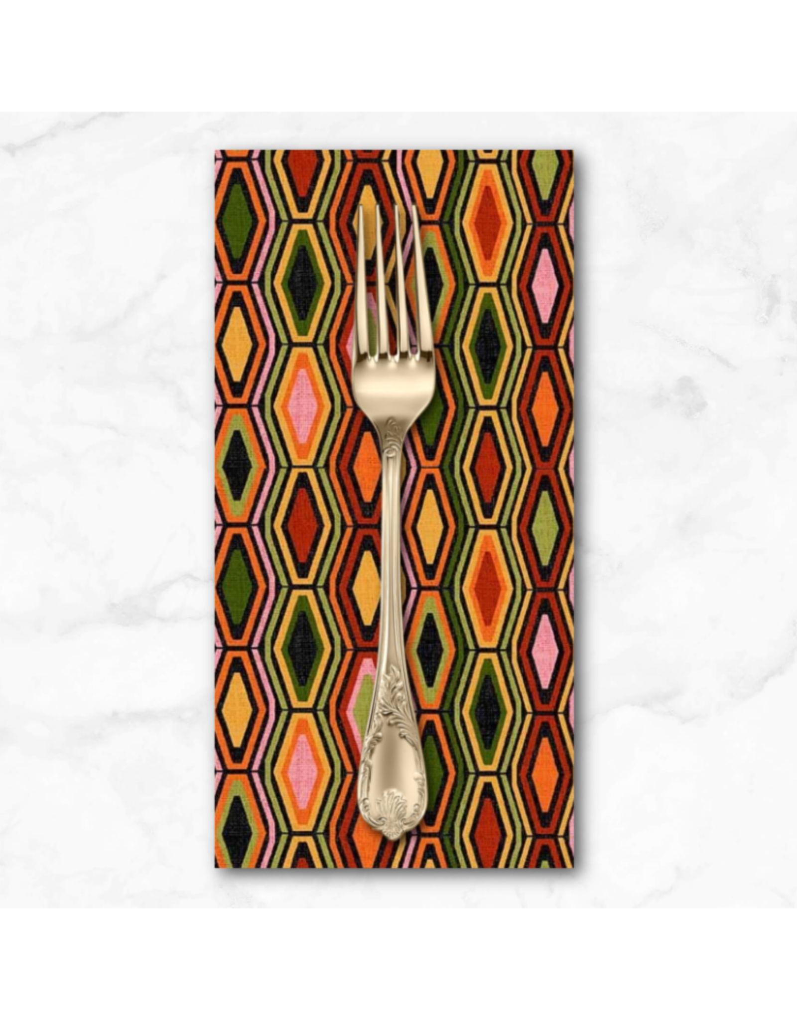 PD's Michael Miller Collection Harvest Tribute, Artful Accents in Black, Dinner Napkin