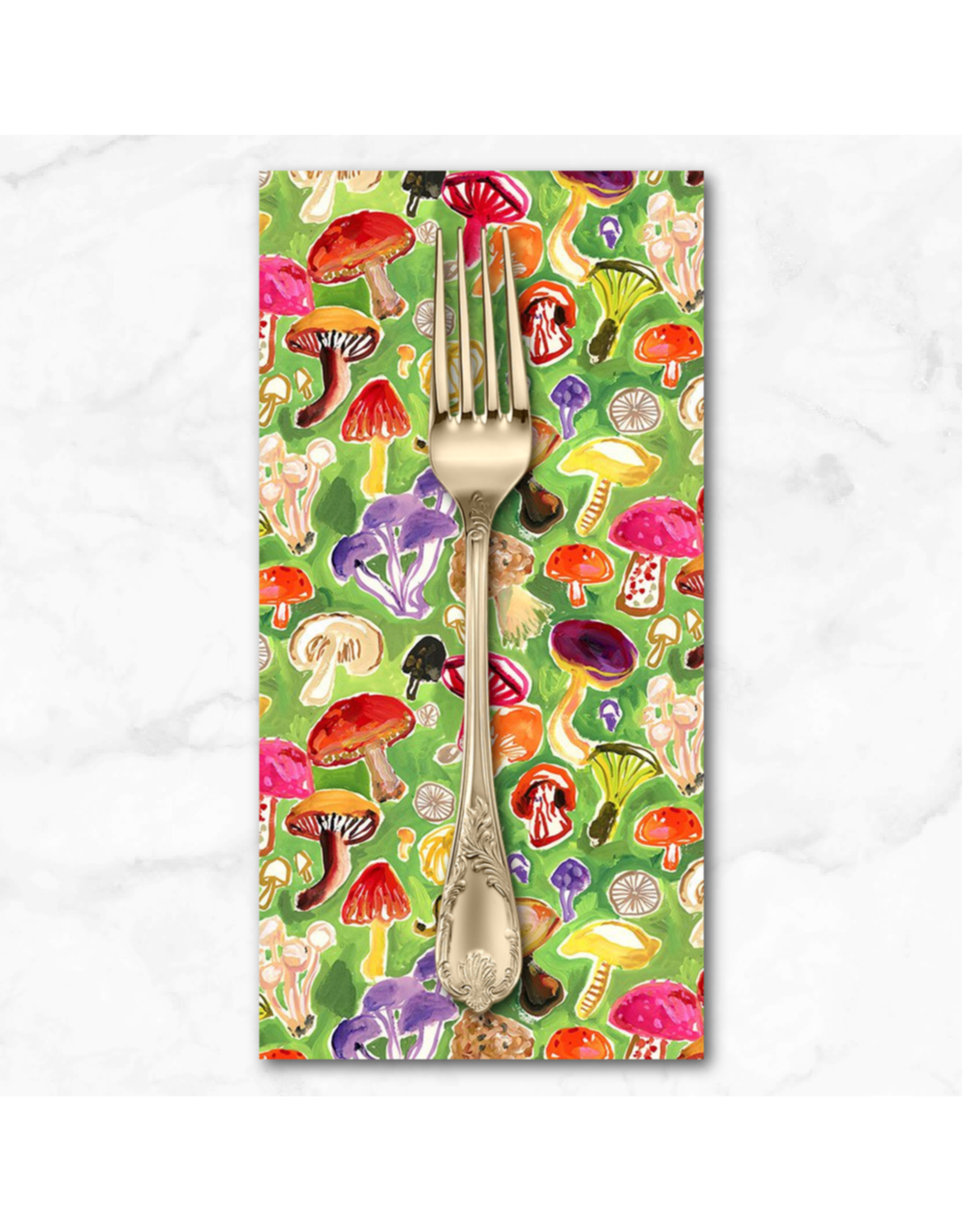 PD's August Wren Collection Chef's Table, Mushroom Field in Multi, Dinner Napkin