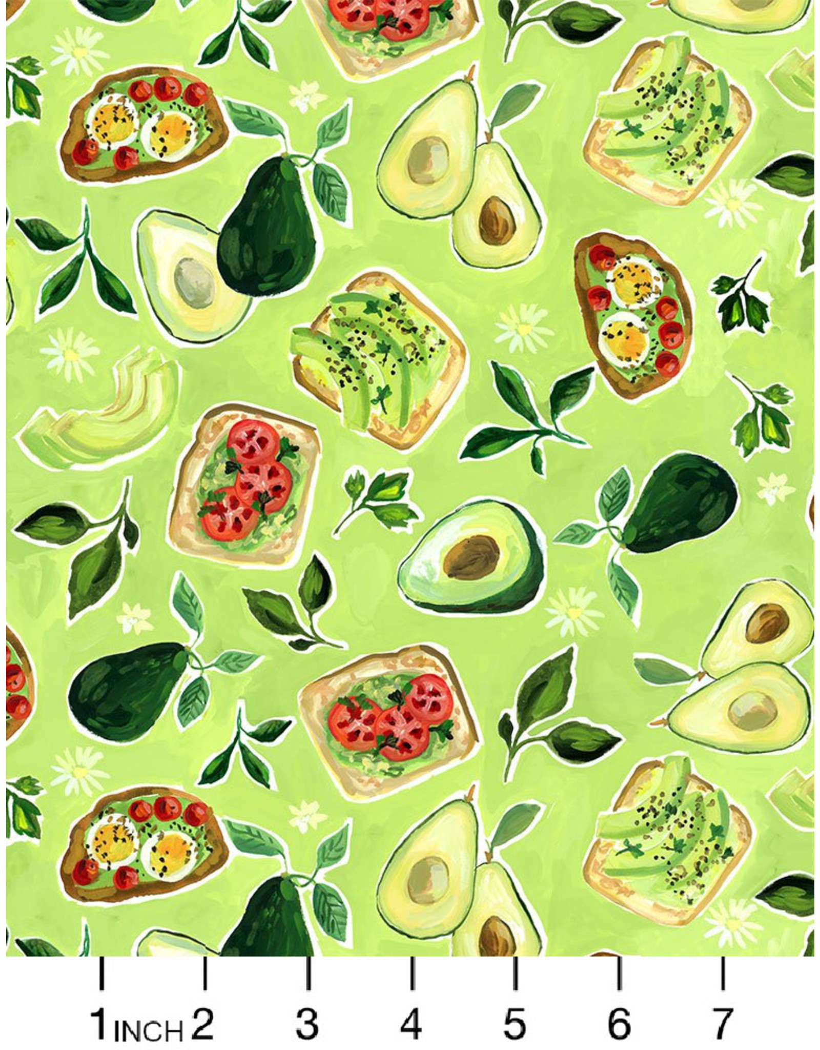 PD's August Wren Collection Chef's Table, Avocado Toast in Multi, Dinner Napkin
