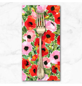 PD's August Wren Collection Chef's Table, Poppy Field in Multi, Dinner Napkin