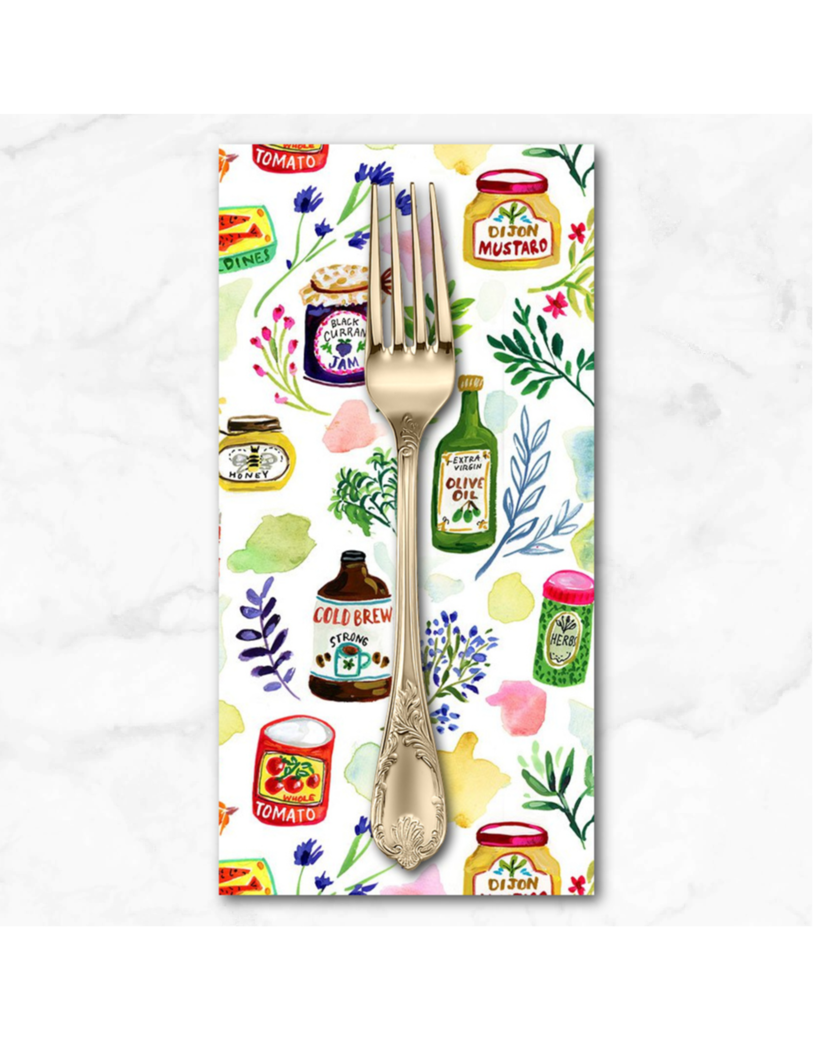 PD's August Wren Collection Chef's Table, Gourmet Food in Multi, Dinner Napkin