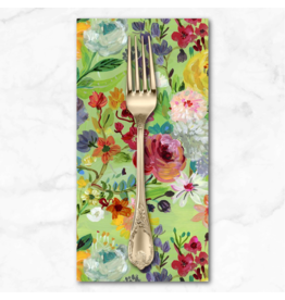 PD's August Wren Collection Chef's Table, Edible Flowers in Multi, Dinner Napkin