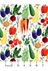 PD's August Wren Collection Chef's Table, Veggie Haul in Multi, Dinner Napkin