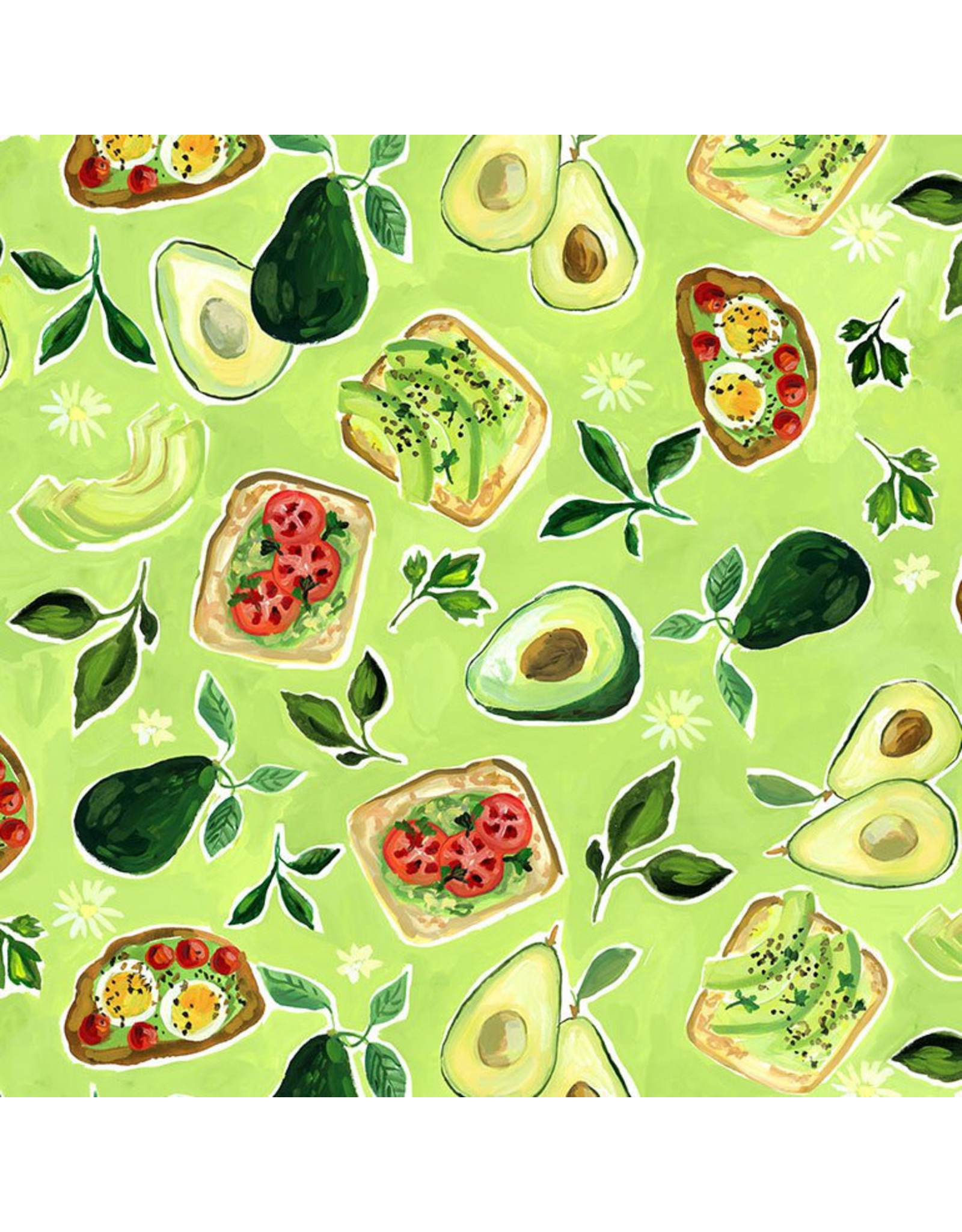 August Wren Chef's Table, Avocado Toast in Multi, Fabric Half-Yards